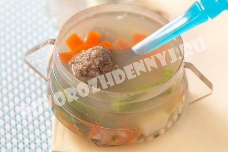 суп с фрикадельками для детей в мультиварке