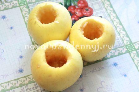 фаршированные яблоки запеченные в духовке