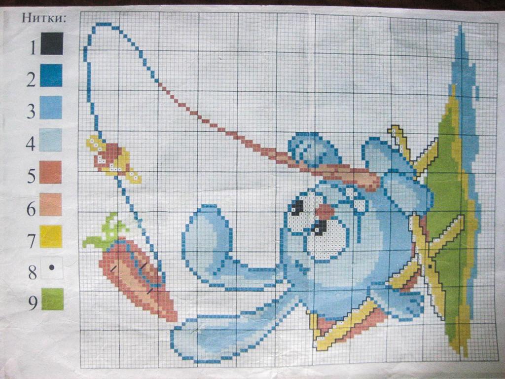 рисунок для вышивки крестом смешарик крош