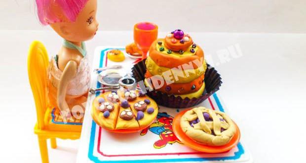 как слепить еду для кукол картинки