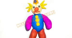 клоун из пластилина