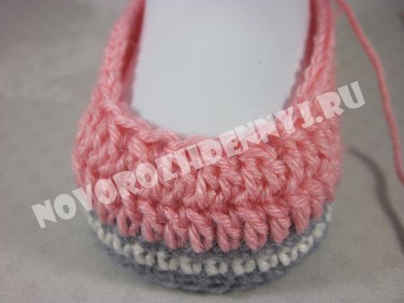 подробное вязание пинеток для девочки крючком