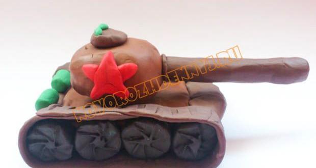 танк из пластилина