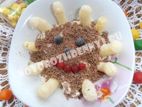 детский творожный десерт