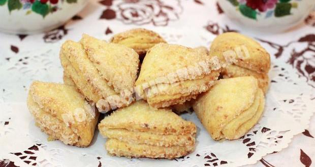 творожное печенье треугольники для детей