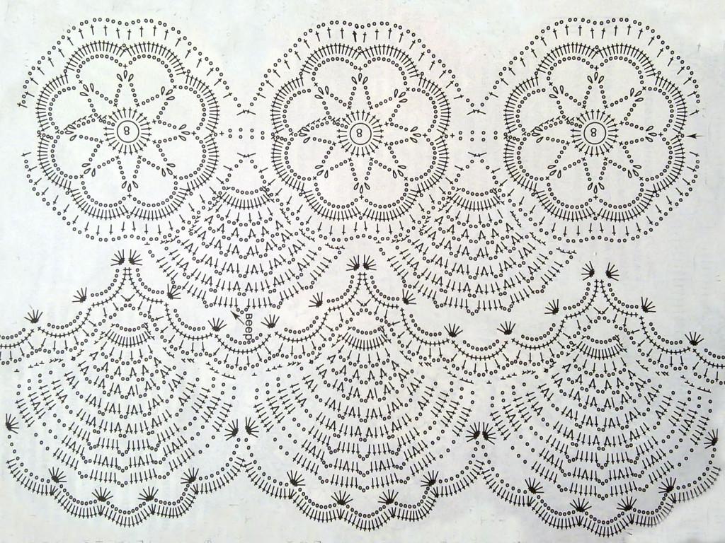 схема вязания узора для платья сарафана