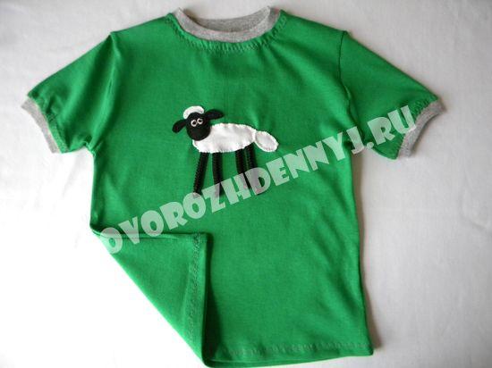 детская футболка из трикотажа