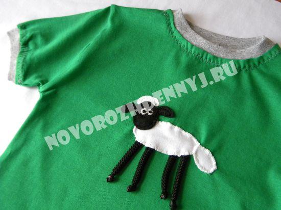 футболка из трикотажа для мальчика