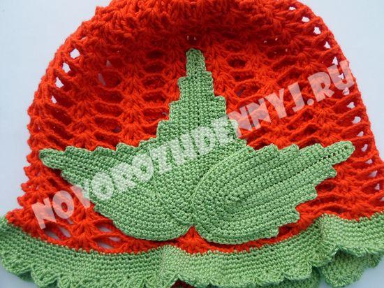 вязание панамки для девочки крючком