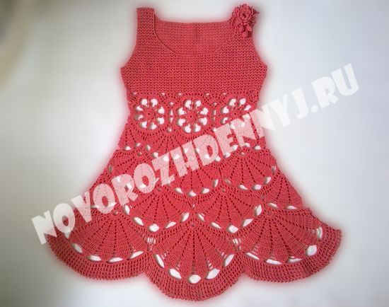летнее платье сарафан для девочки крючком
