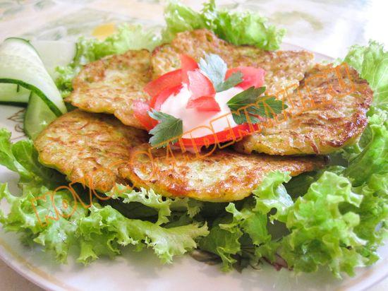 оладьи из кабачков и картофеля