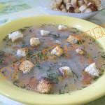 суп с сухариками для детей
