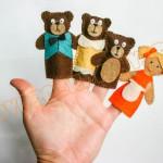"""пальчиковый театр """"три медведя"""""""