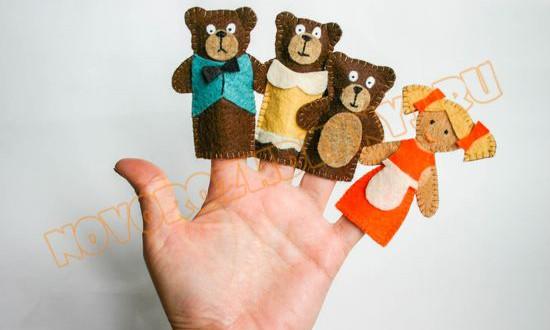 Три медведя из фетра выкройка фото 715