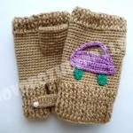 перчатки митенки для мальчика