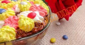 праздничный десерт из сухофруктов и орехов