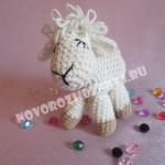 игрушка овечка крючком