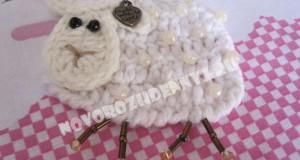 аппликация овечка, крючком для детей