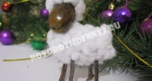 Детские поделки овечки к новому году 2015