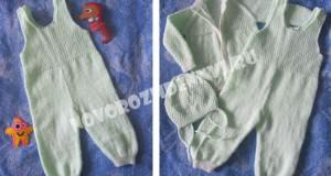 комплект для новорожденного спицами