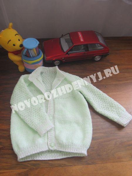 кофточка спицами для малыша
