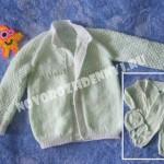 кофточка спицами для малыша, реглан сверху