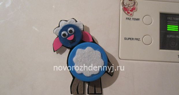 магнит овечка на холодильник