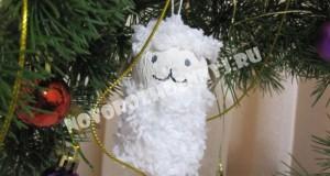 елочная игрушка овечка