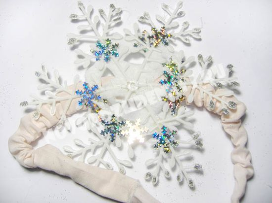 украшение для снежинки на голову