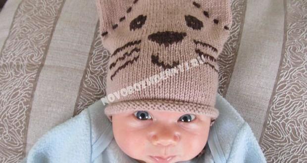 шапочка для малышей спицами