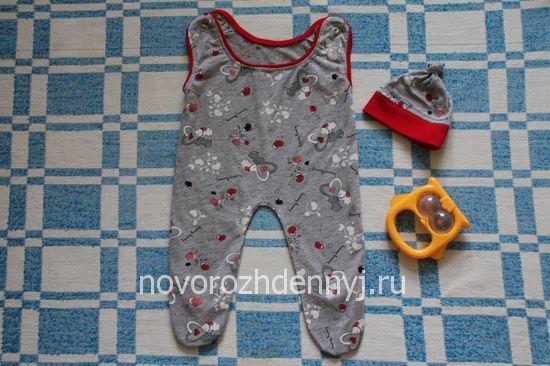 ползунки на лямках для новорожденного