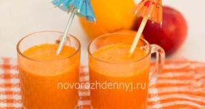 свежевыжатый сок из моркови, яблока и апельсина