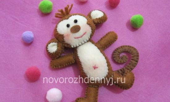 обезьянка из фетра своими руками