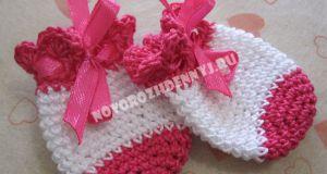 царапки для новорожденных крючком