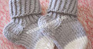 носочки спицами для новорожденных