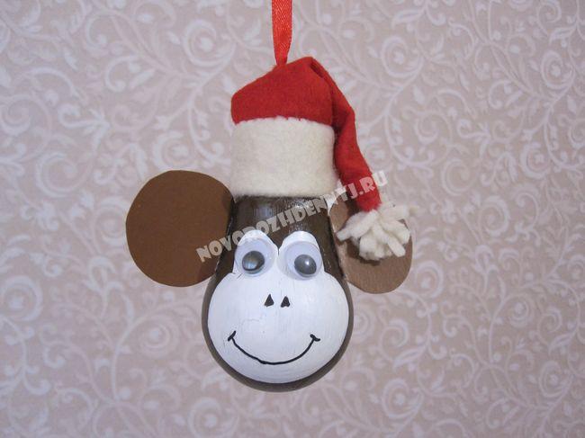 Новогодние игрушки своими руками обезьянка из бумаги