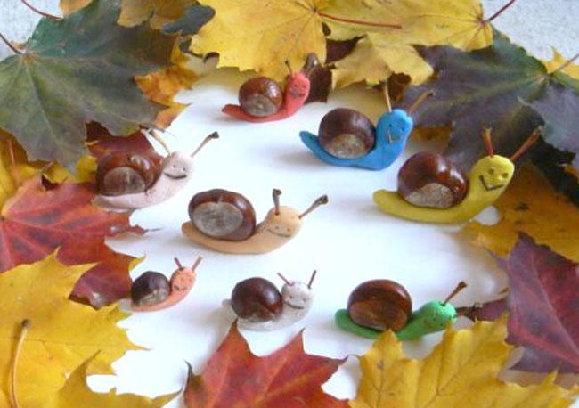 Осенние поделки своими руками с каштанов