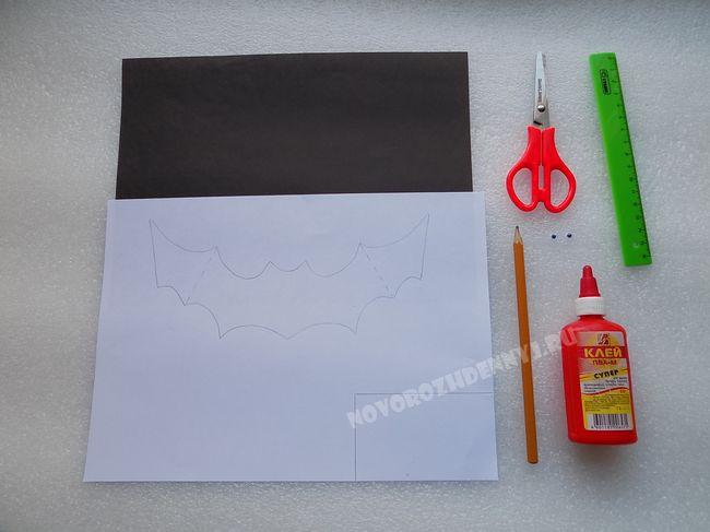 Поделка из бумаги на хэллоуин своими руками фото 938
