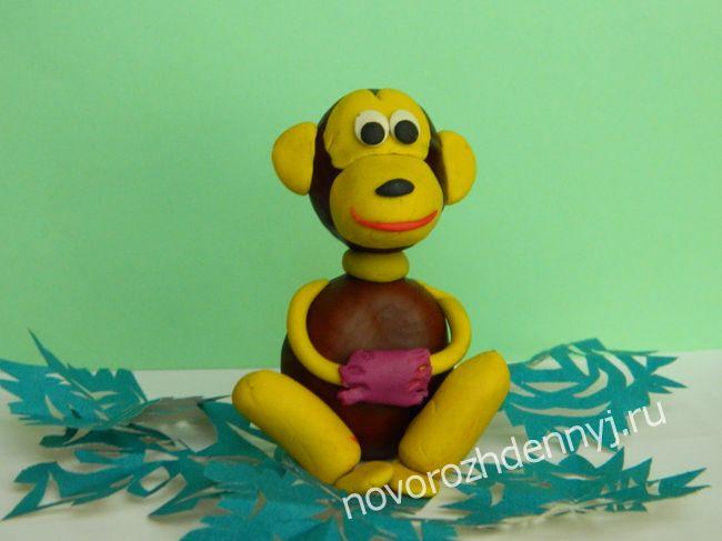 новогодняя поделка обезьяна