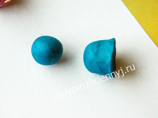 Как сделать из синего пластилина 104