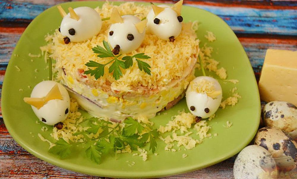 салат мышки в сыре