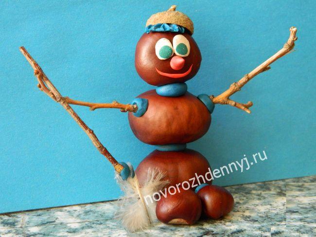 поделка снеговик для детского сада
