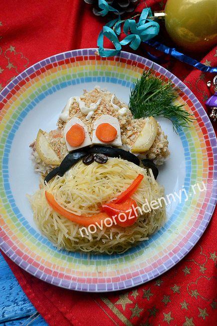 салат Обезьяна на Новый год