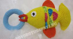 погремушка рыбка своими руками