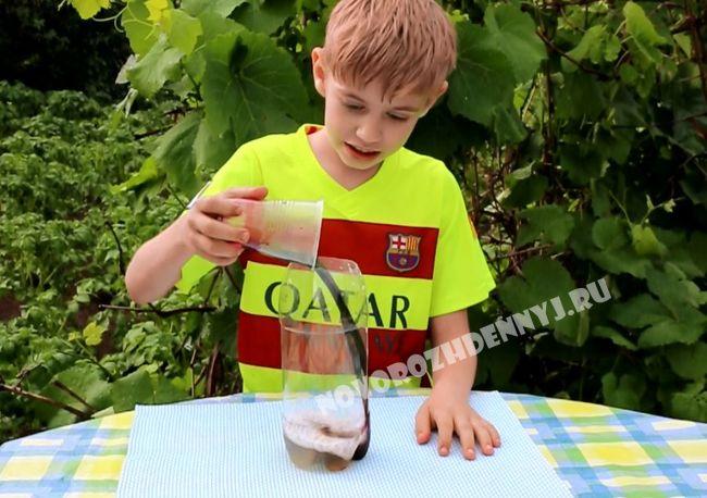 химический опыт для детей в домашних условиях