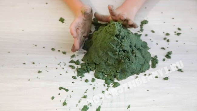кинетический песок в домашних условиях
