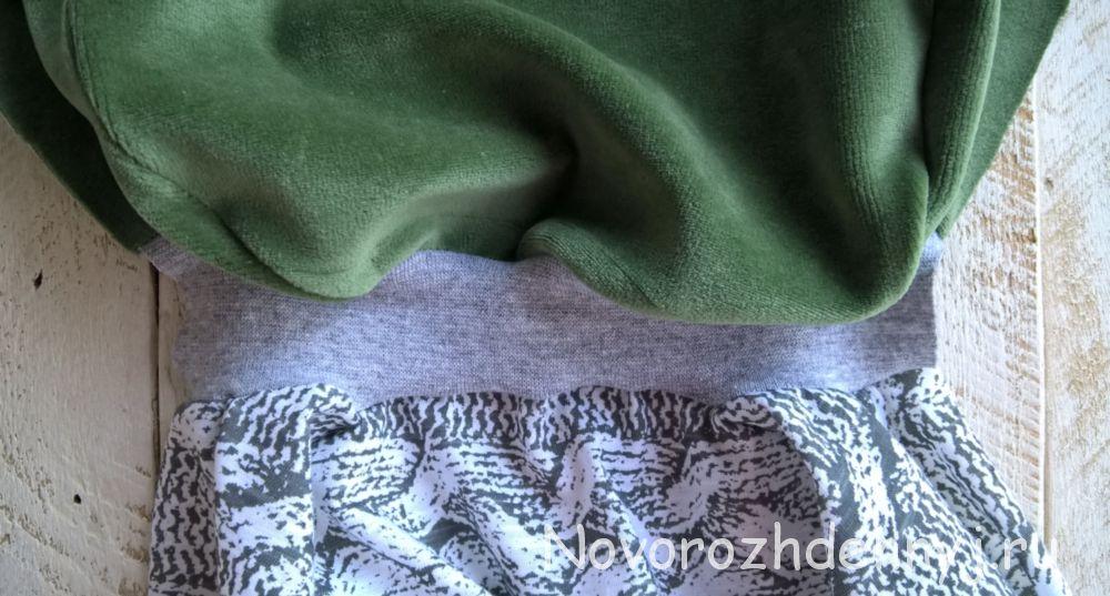 Пристрочите рибану к основной ткани
