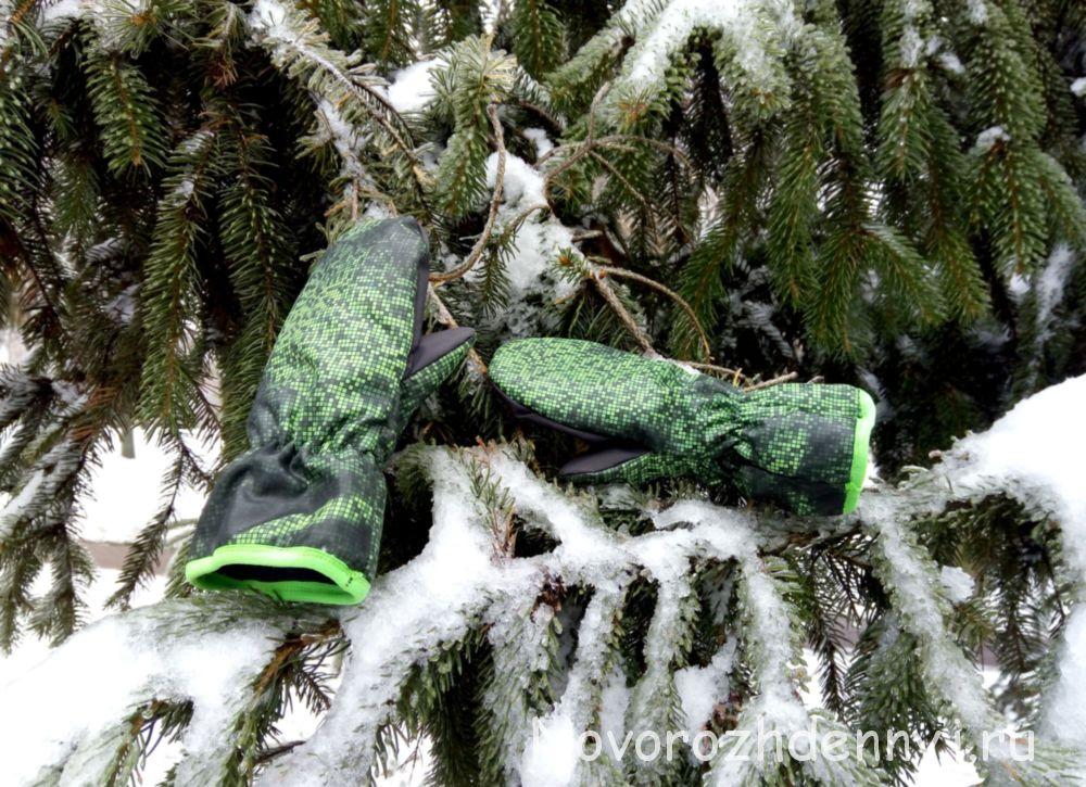теплые зимние варежки